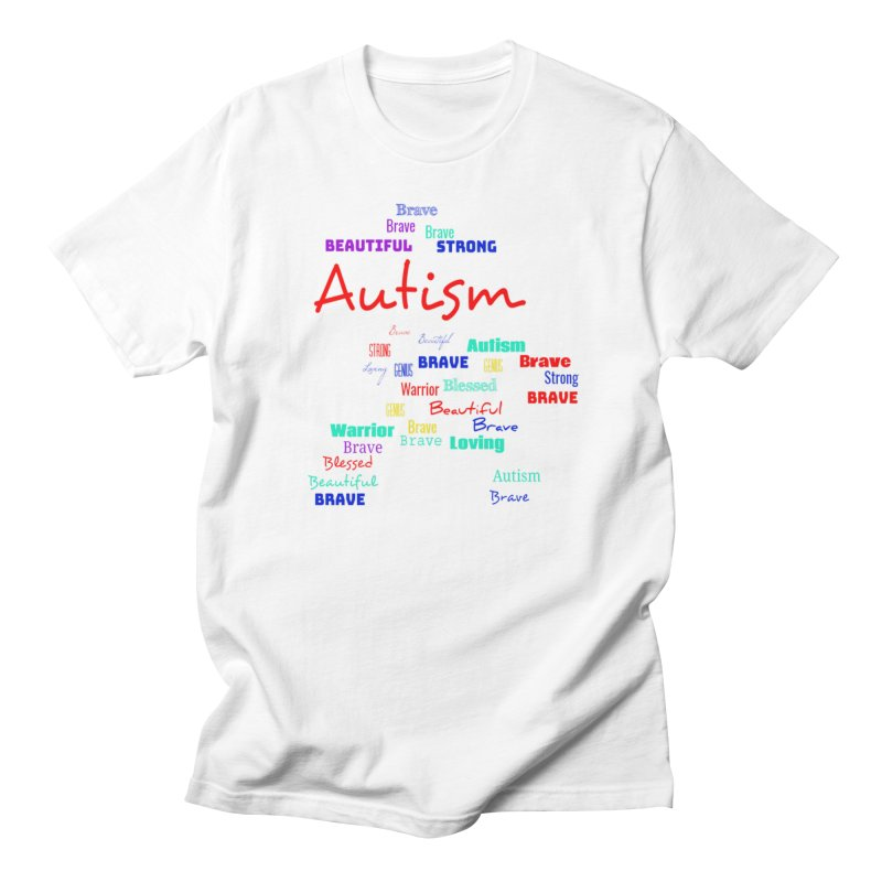 Beautiful Strong Autism in Men's Regular T-Shirt White by Divinitium's Clothing and Apparel