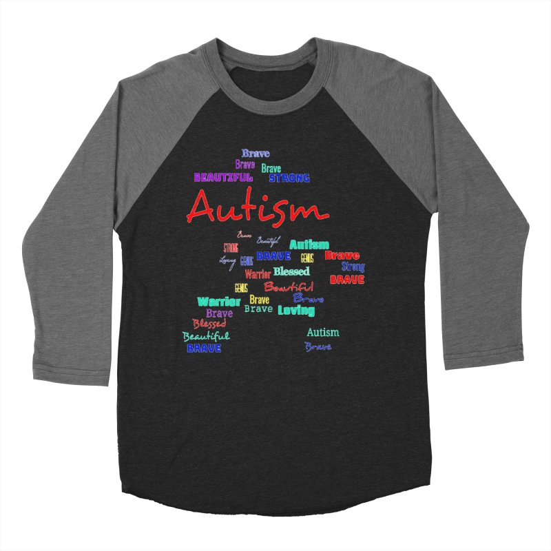 Beautiful Strong Autism Women's Baseball Triblend Longsleeve T-Shirt by Divinitium's Clothing and Apparel