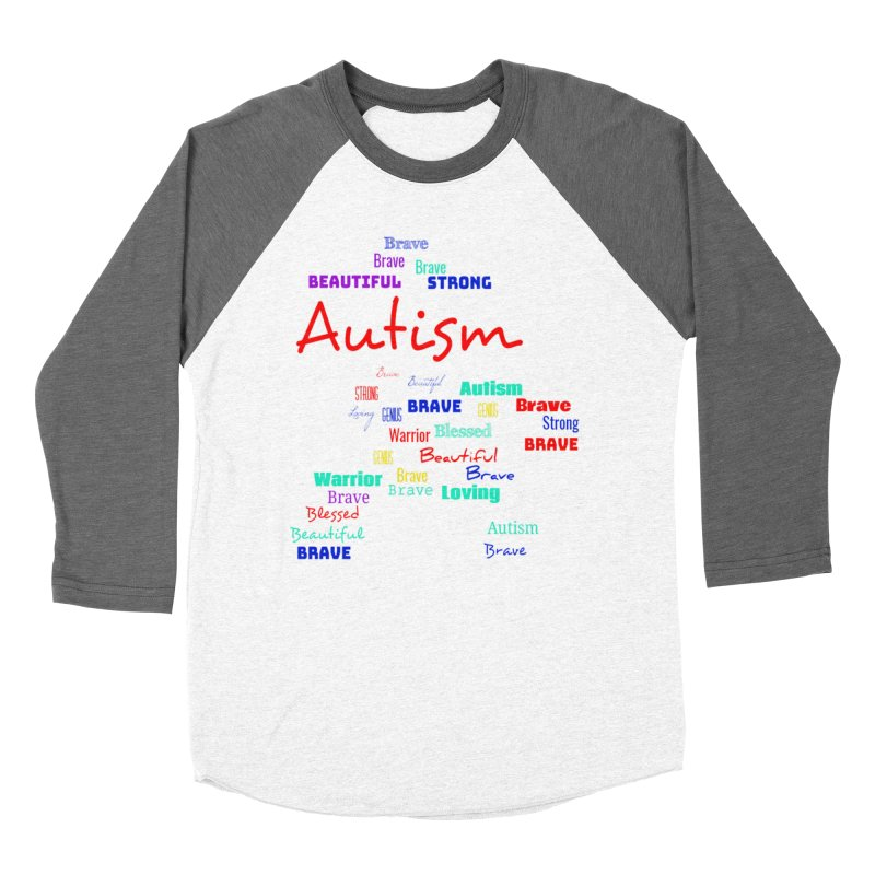 Beautiful Strong Autism Men's Baseball Triblend Longsleeve T-Shirt by Divinitium's Clothing and Apparel
