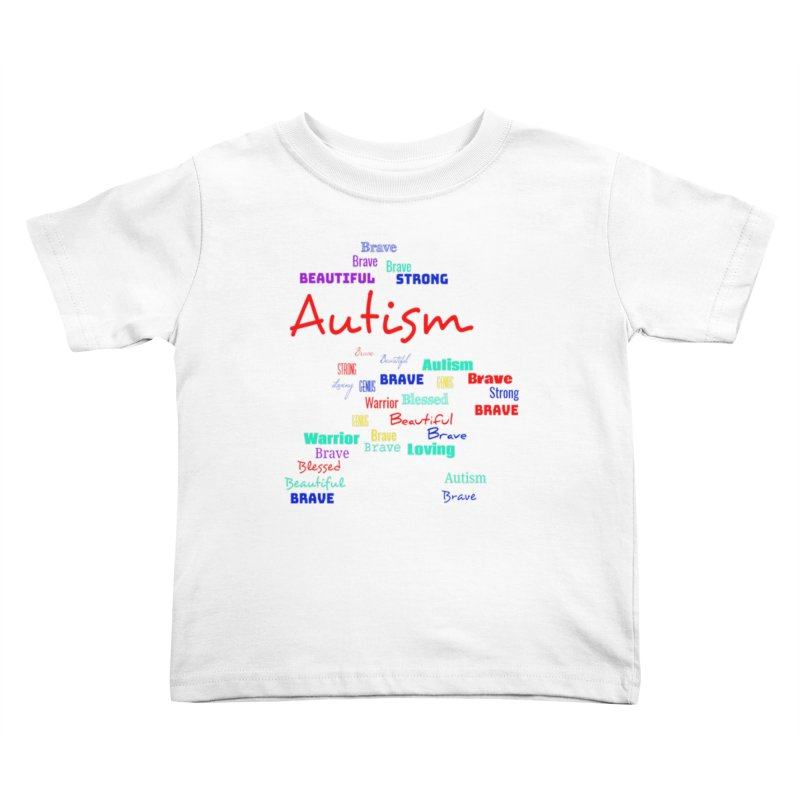 Beautiful Strong Autism Kids Toddler T-Shirt by Divinitium's Clothing and Apparel