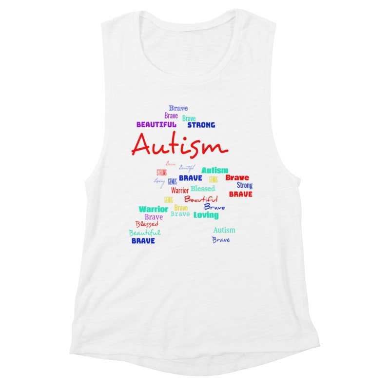 Beautiful Strong Autism Women's Tank by Divinitium's Clothing and Apparel