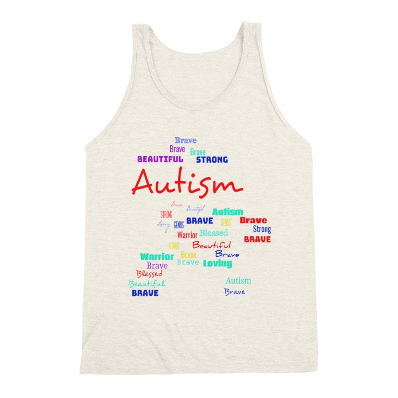 Beautiful Strong Autism Men's Tank by Divinitium's Clothing and Apparel