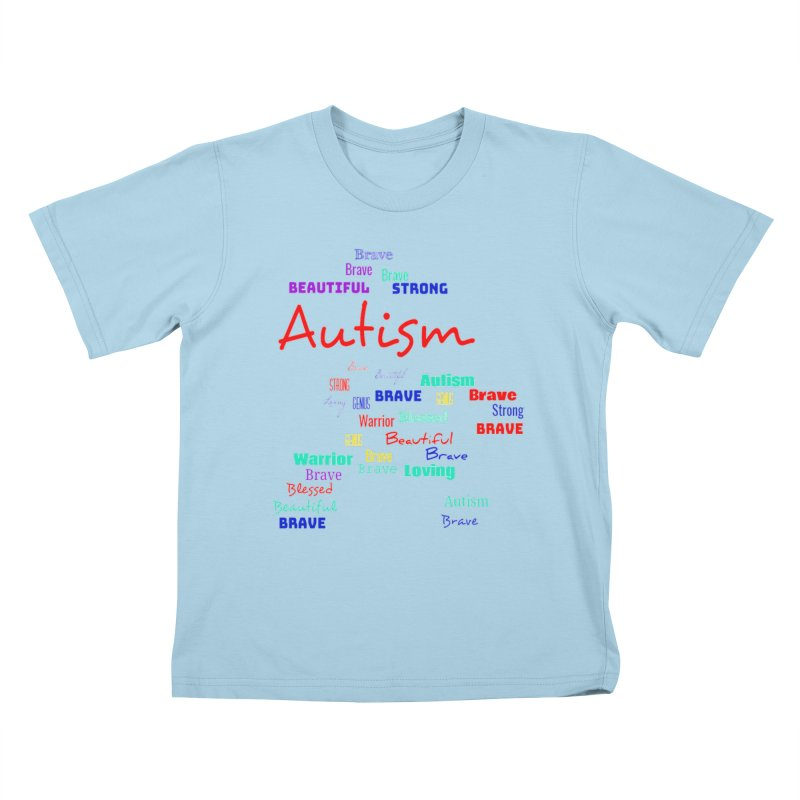 Beautiful Strong Autism Kids T-Shirt by Divinitium's Clothing and Apparel