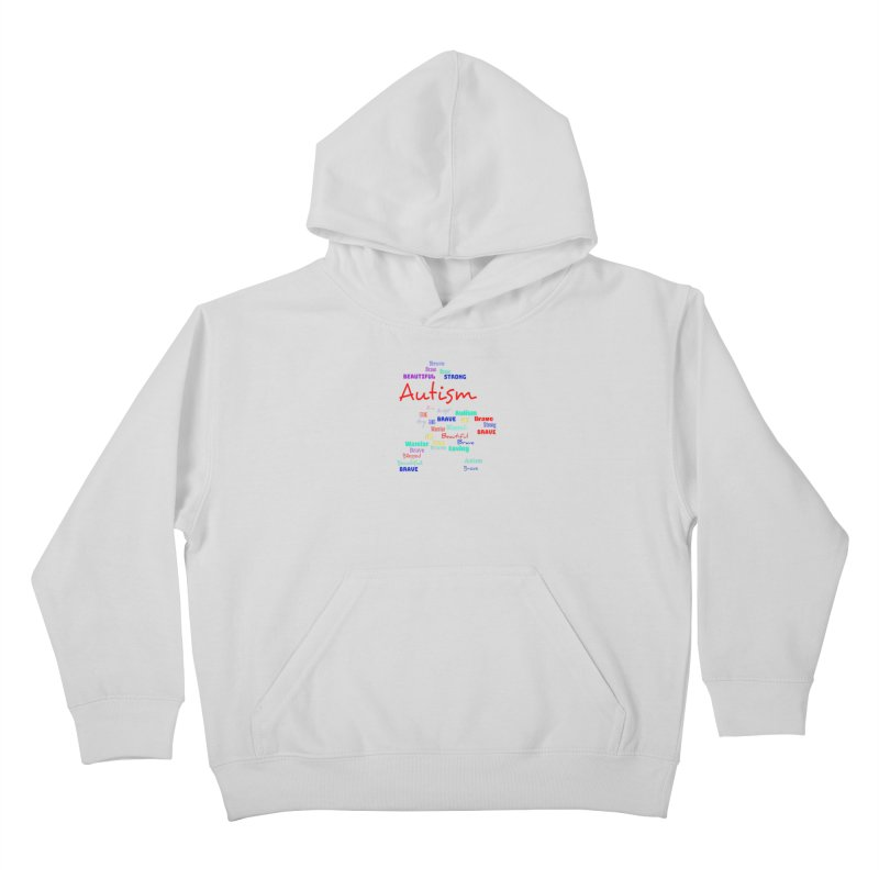 Beautiful Strong Autism Kids Pullover Hoody by Divinitium's Clothing and Apparel