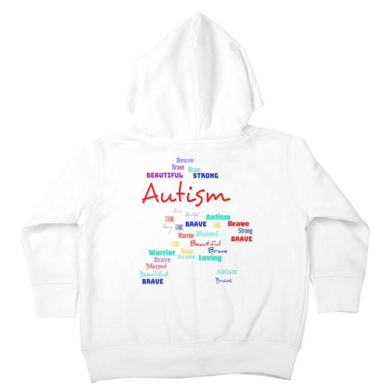 Beautiful Strong Autism Kids Toddler Zip-Up Hoody by Divinitium's Clothing and Apparel