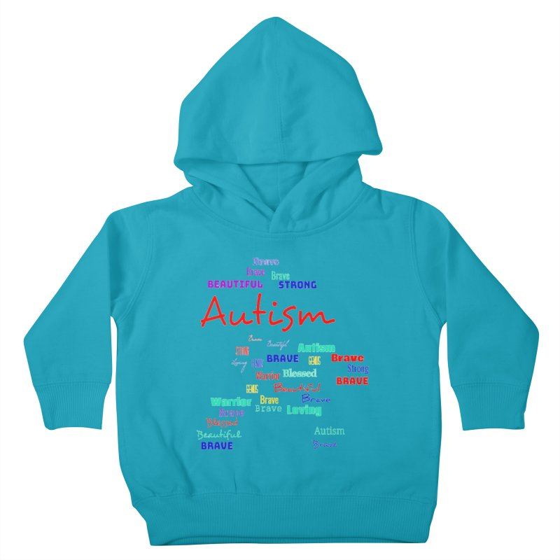 Beautiful Strong Autism Kids Toddler Pullover Hoody by Divinitium's Clothing and Apparel