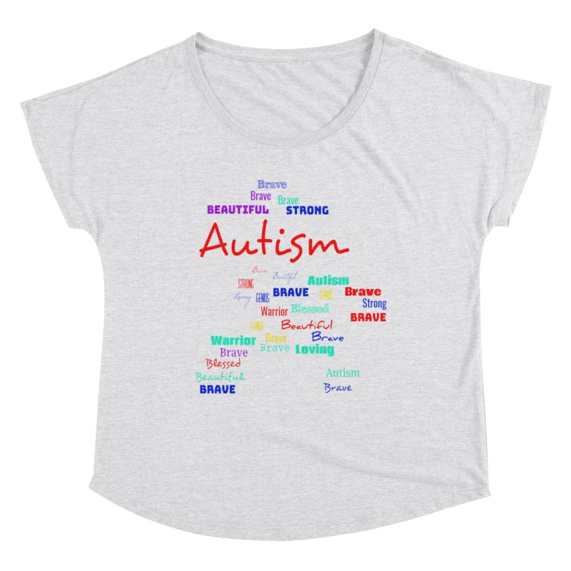 Beautiful Strong Autism Women's Scoop Neck by Divinitium's Clothing and Apparel