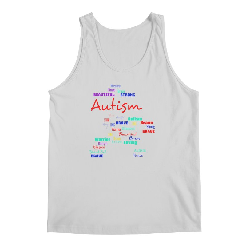 Beautiful Strong Autism Men's Regular Tank by Divinitium's Clothing and Apparel