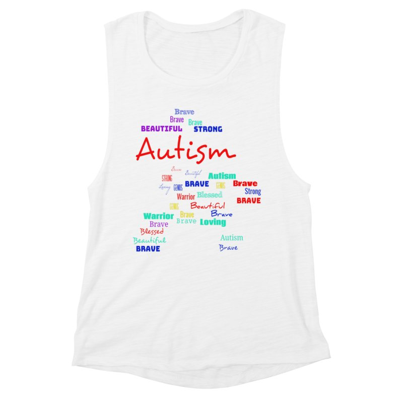 Beautiful Strong Autism Women's Muscle Tank by Divinitium's Clothing and Apparel