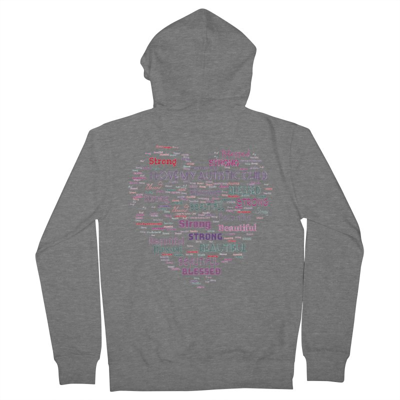 I Love My Autistic Child Men's Zip-Up Hoody by Divinitium's Clothing and Apparel