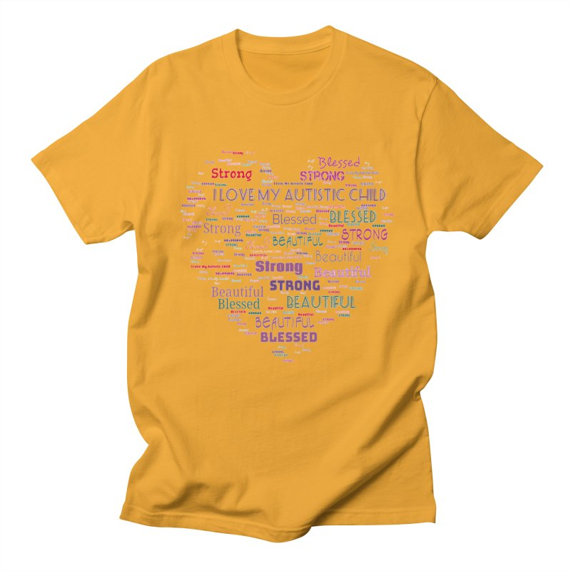 I Love My Autistic Child Men's Regular T-Shirt by Divinitium's Clothing and Apparel