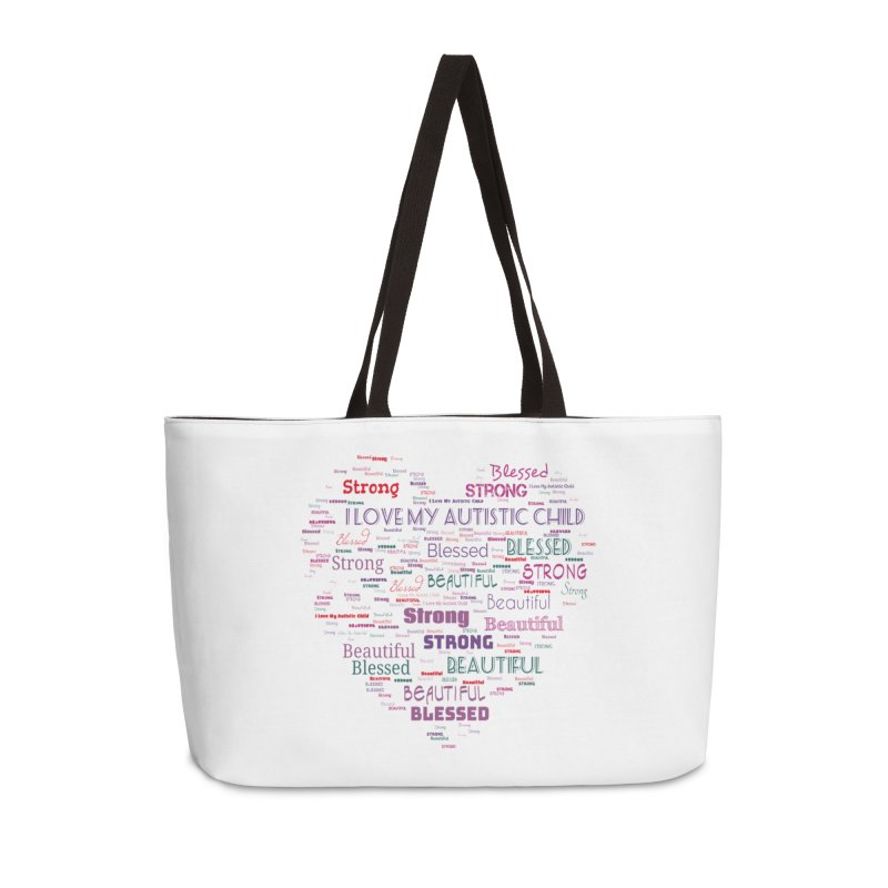 I Love My Autistic Child Accessories Weekender Bag Bag by Divinitium's Clothing and Apparel