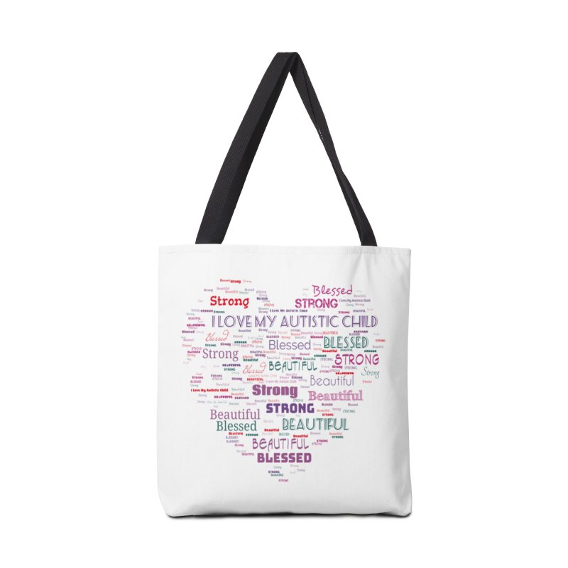 I Love My Autistic Child Accessories Bag by Divinitium's Clothing and Apparel