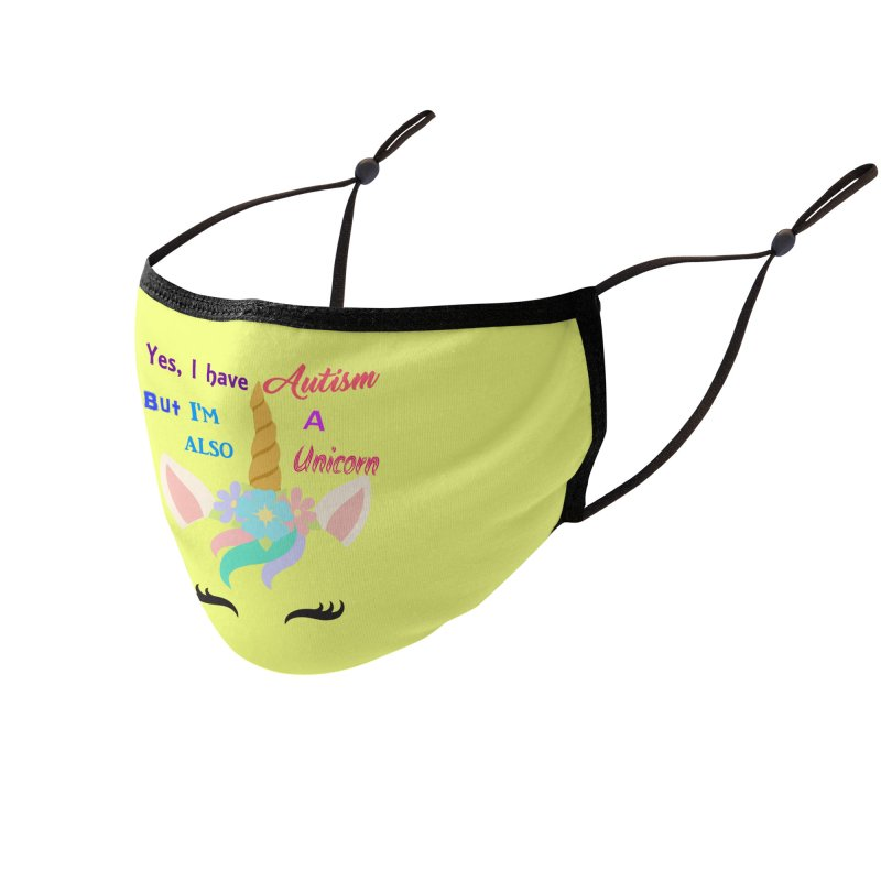 Autism Unicorn Accessories Face Mask by Divinitium's Clothing and Apparel