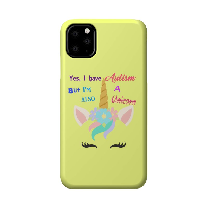 Autism Unicorn Accessories Phone Case by Divinitium's Clothing and Apparel