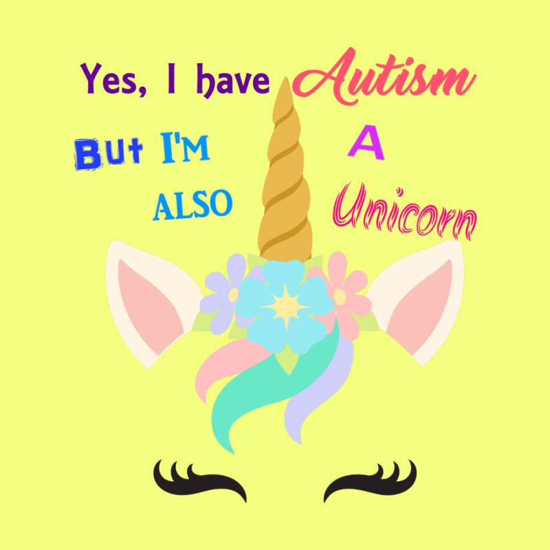 Autism Unicorn Home Fine Art Print by Divinitium's Clothing and Apparel