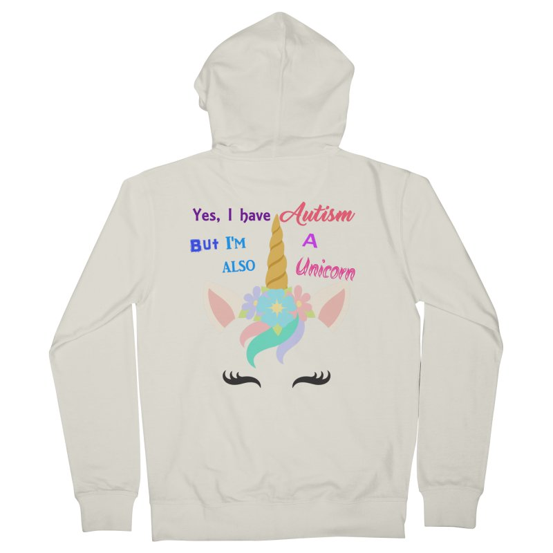 Autism Unicorn Women's French Terry Zip-Up Hoody by Divinitium's Clothing and Apparel