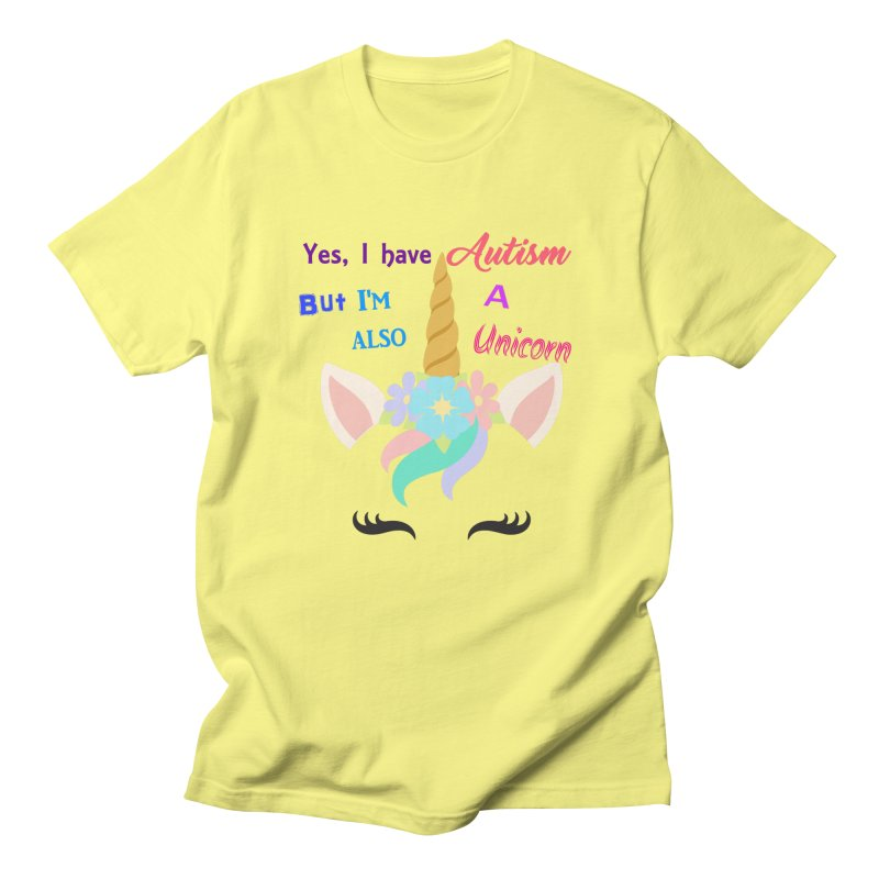 Autism Unicorn Women's Regular Unisex T-Shirt by Divinitium's Clothing and Apparel