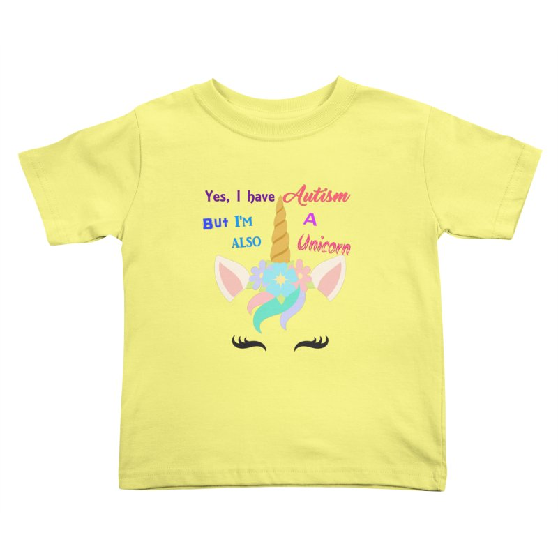 Autism Unicorn Kids Toddler T-Shirt by Divinitium's Clothing and Apparel