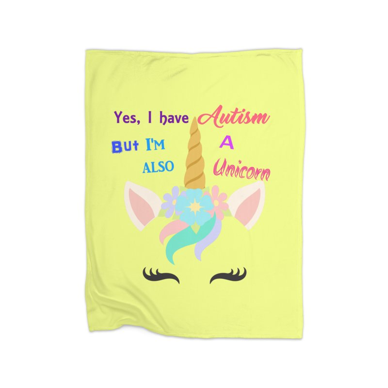 Autism Unicorn Home Blanket by Divinitium's Clothing and Apparel