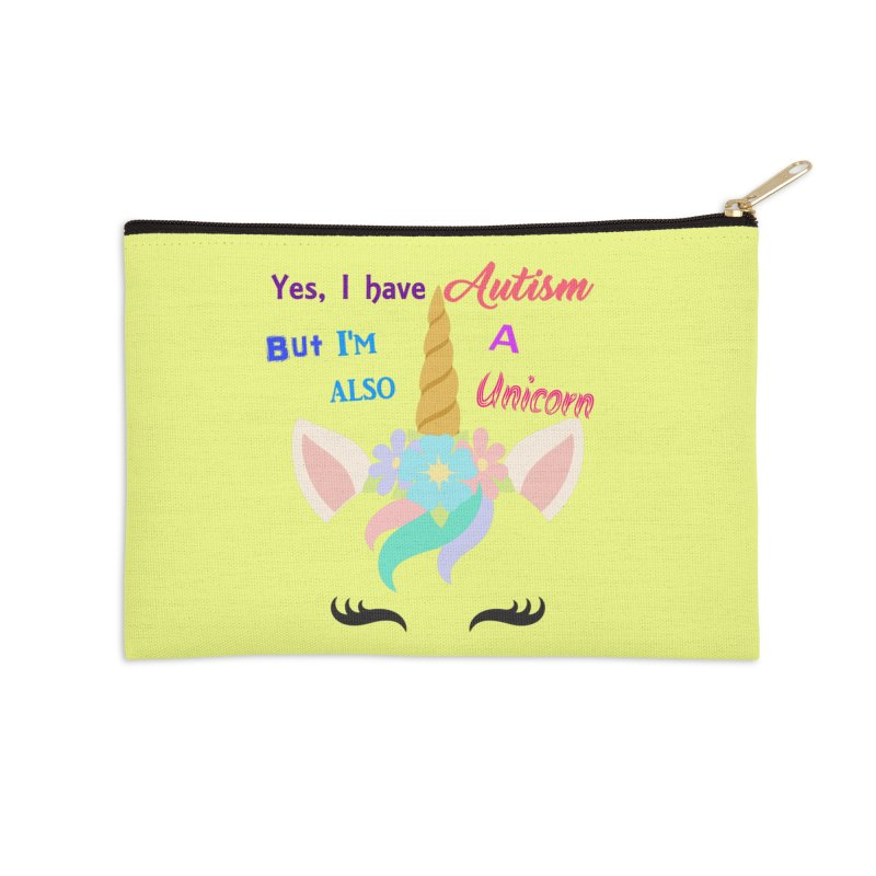 Autism Unicorn Accessories Zip Pouch by Divinitium's Clothing and Apparel