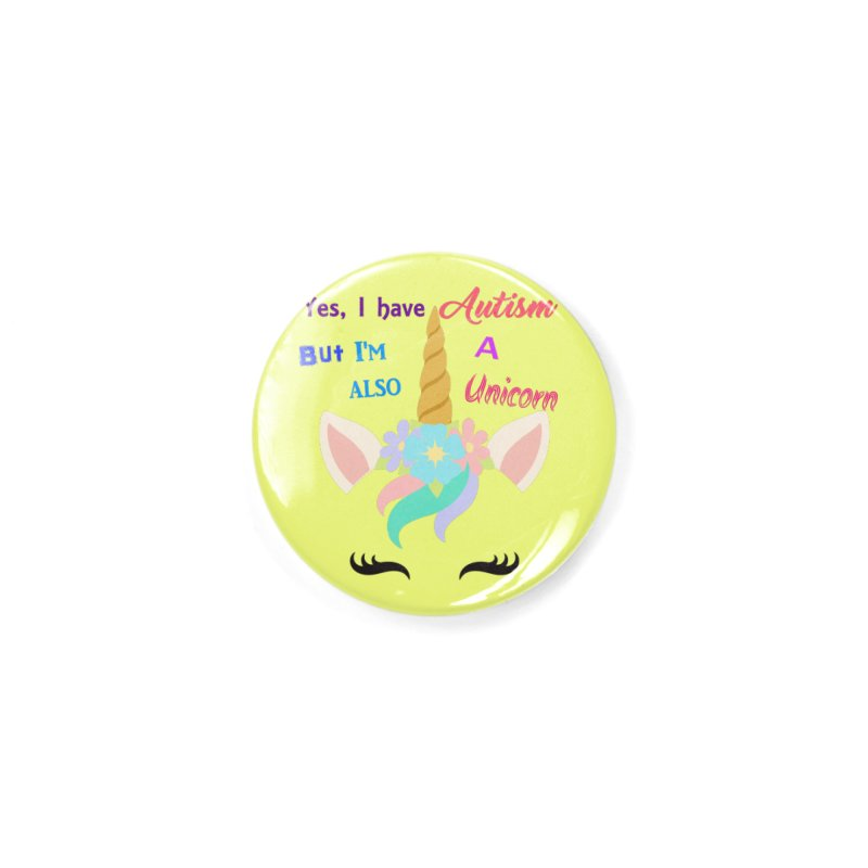 Autism Unicorn Accessories Button by Divinitium's Clothing and Apparel