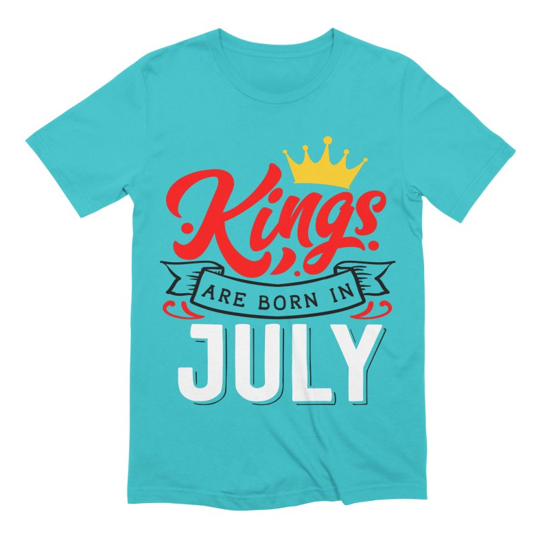 Kings Are born In July Men's T-Shirt by Divinitium's Clothing and Apparel
