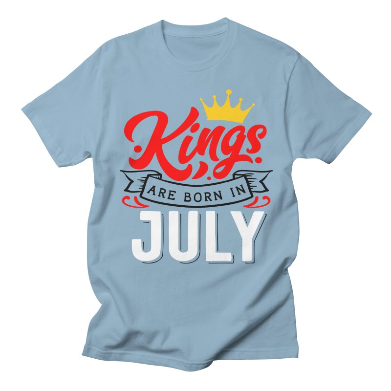 Kings Are born In July Men's Regular T-Shirt by Divinitium's Clothing and Apparel