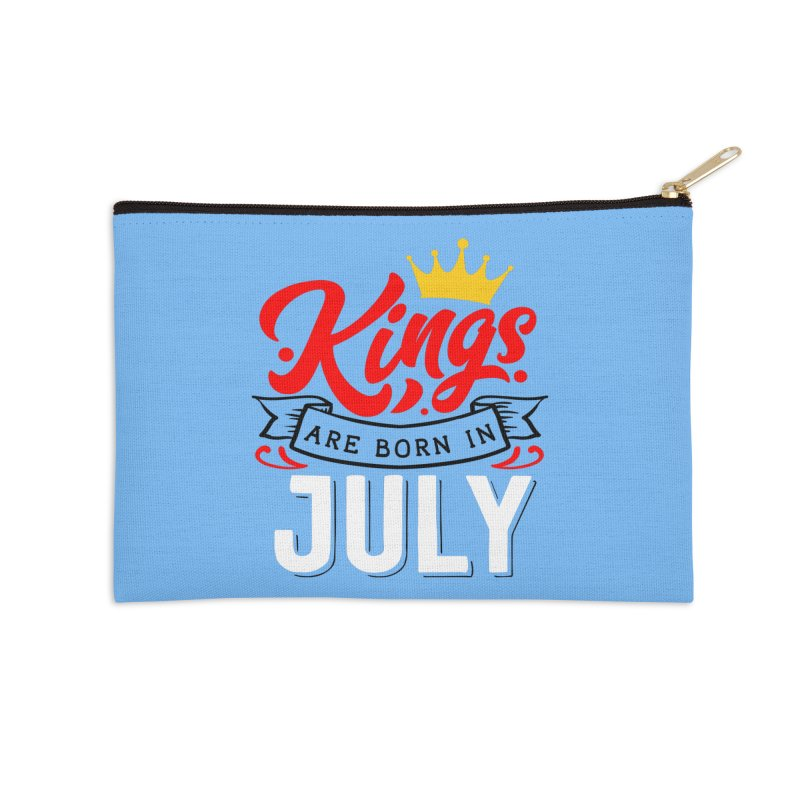 Kings Are born In July Accessories Zip Pouch by Divinitium's Clothing and Apparel