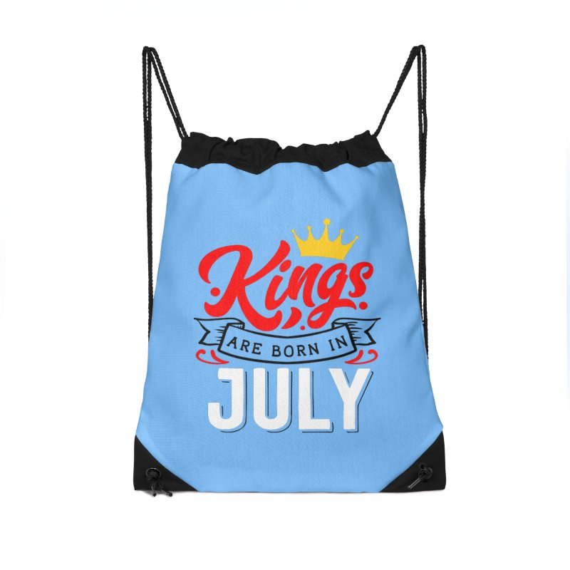 Kings Are born In July Accessories Drawstring Bag Bag by Divinitium's Clothing and Apparel