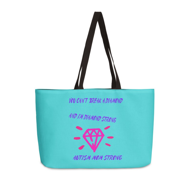 Diamond Strong Autism Mom Accessories Weekender Bag Bag by Divinitium's Clothing and Apparel