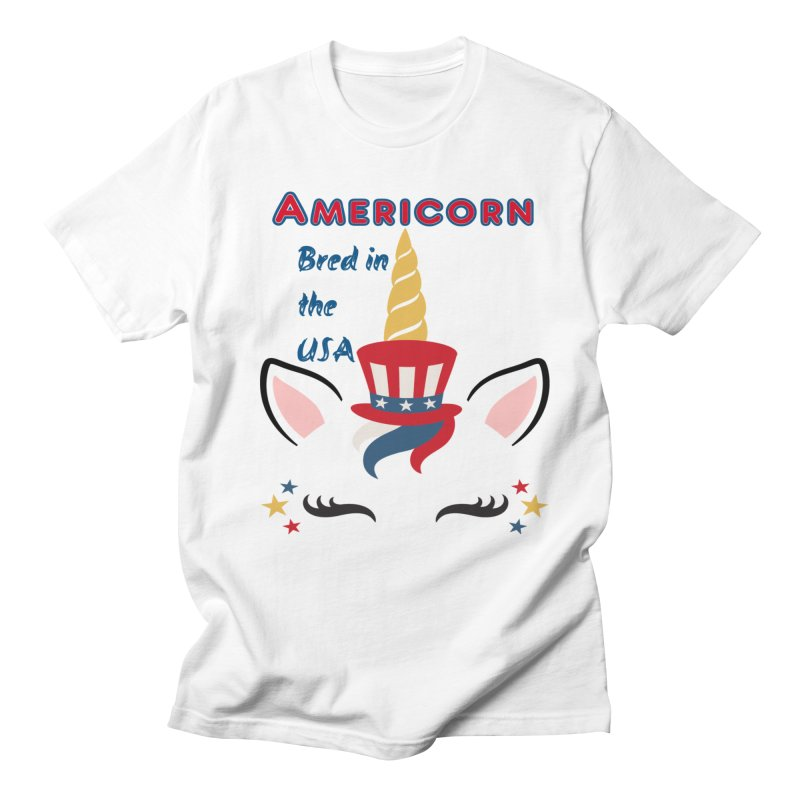 Americorn Women's Regular Unisex T-Shirt by Divinitium's Clothing and Apparel