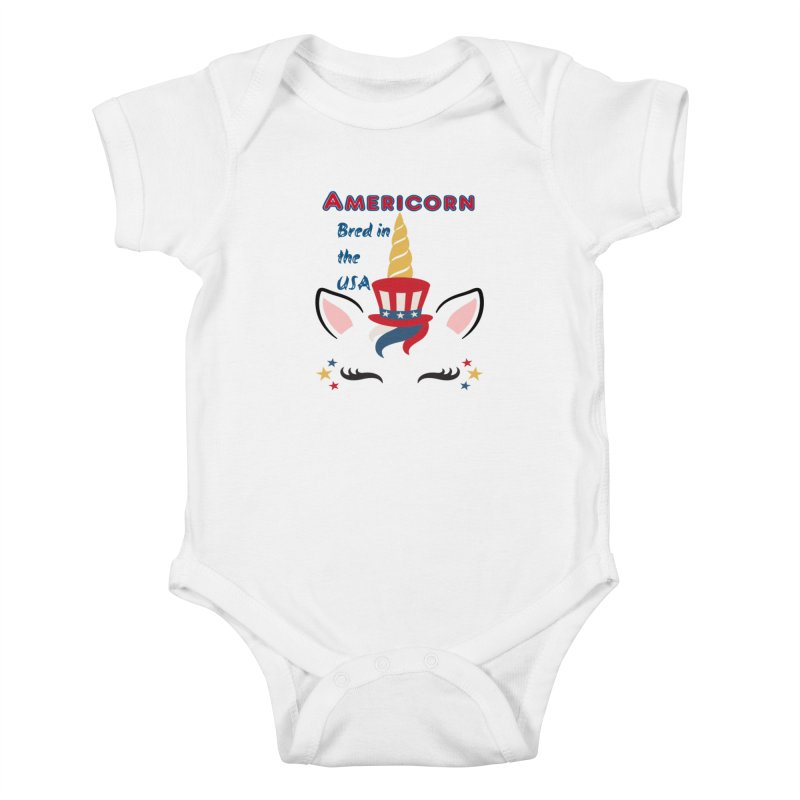 Americorn Kids Baby Bodysuit by Divinitium's Clothing and Apparel
