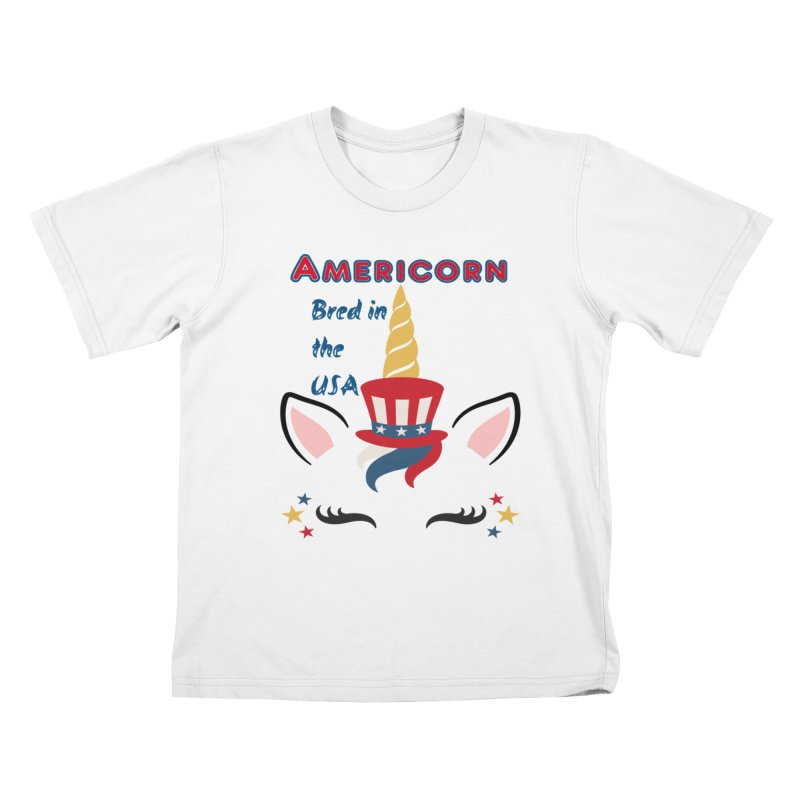 Americorn Kids T-Shirt by Divinitium's Clothing and Apparel