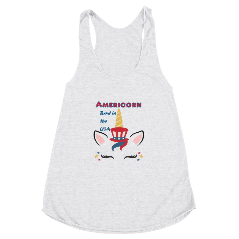 Americorn Women's Racerback Triblend Tank by Divinitium's Clothing and Apparel
