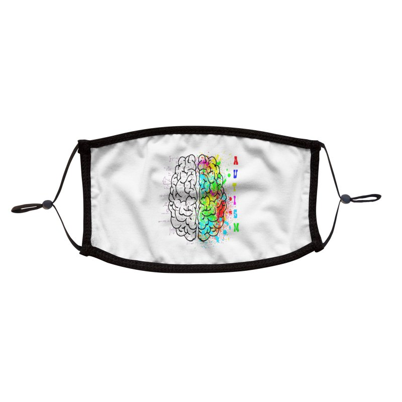 Autism Brain Accessories Face Mask by Divinitium's Clothing and Apparel