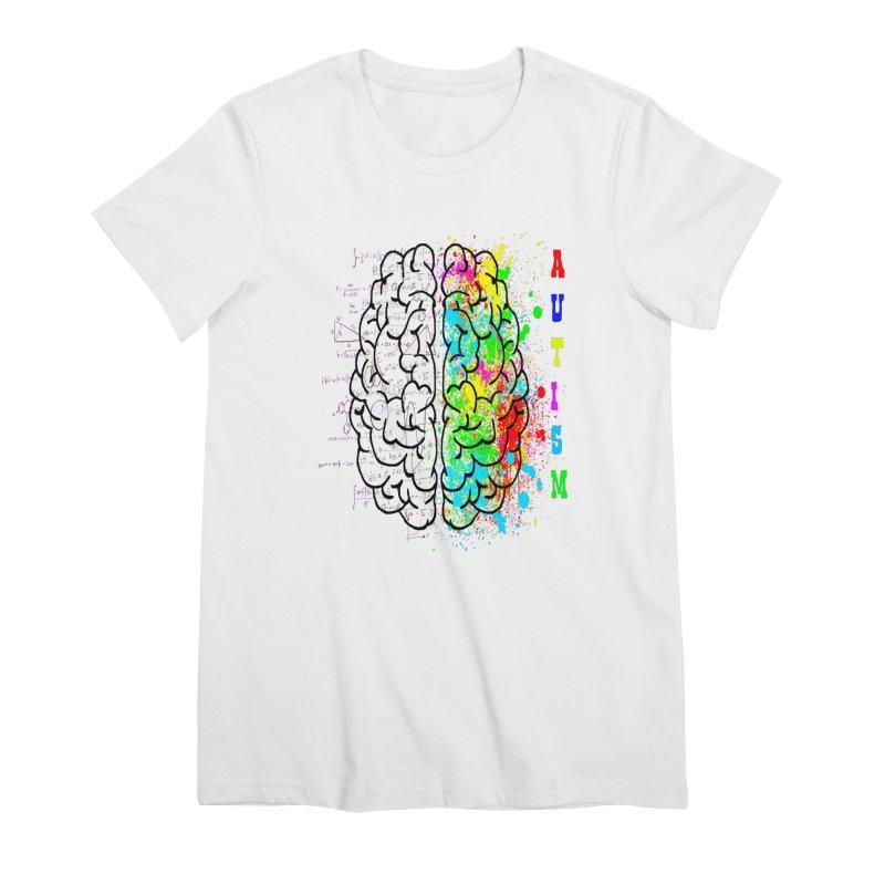 Autism Brain Women's Premium T-Shirt by Divinitium's Clothing and Apparel