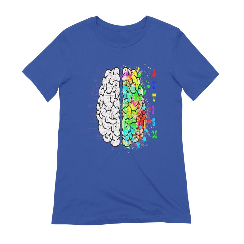 Autism Brain Women's Extra Soft T-Shirt by Divinitium's Clothing and Apparel