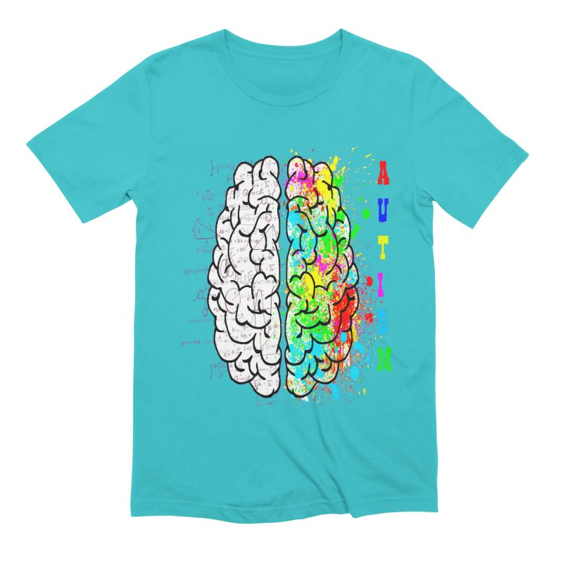 Autism Brain Men's Extra Soft T-Shirt by Divinitium's Clothing and Apparel