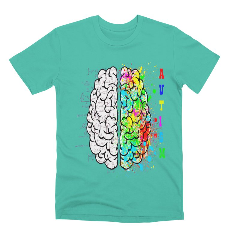 Autism Brain Men's Premium T-Shirt by Divinitium's Clothing and Apparel