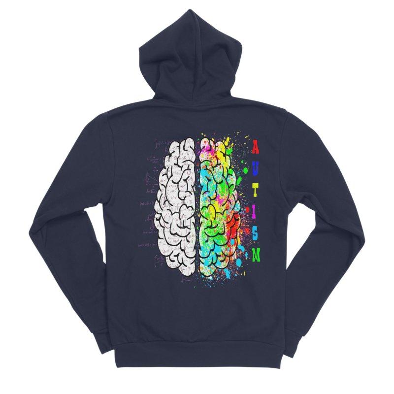 Autism Brain Women's Sponge Fleece Zip-Up Hoody by Divinitium's Clothing and Apparel