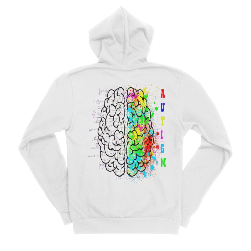 Autism Brain Women's Sponge Fleece Zip-Up Hoody by Divinitium's Clothing and Apparel