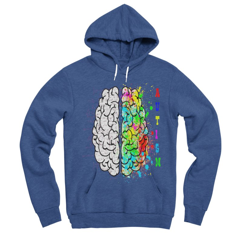 Autism Brain Women's Sponge Fleece Pullover Hoody by Divinitium's Clothing and Apparel