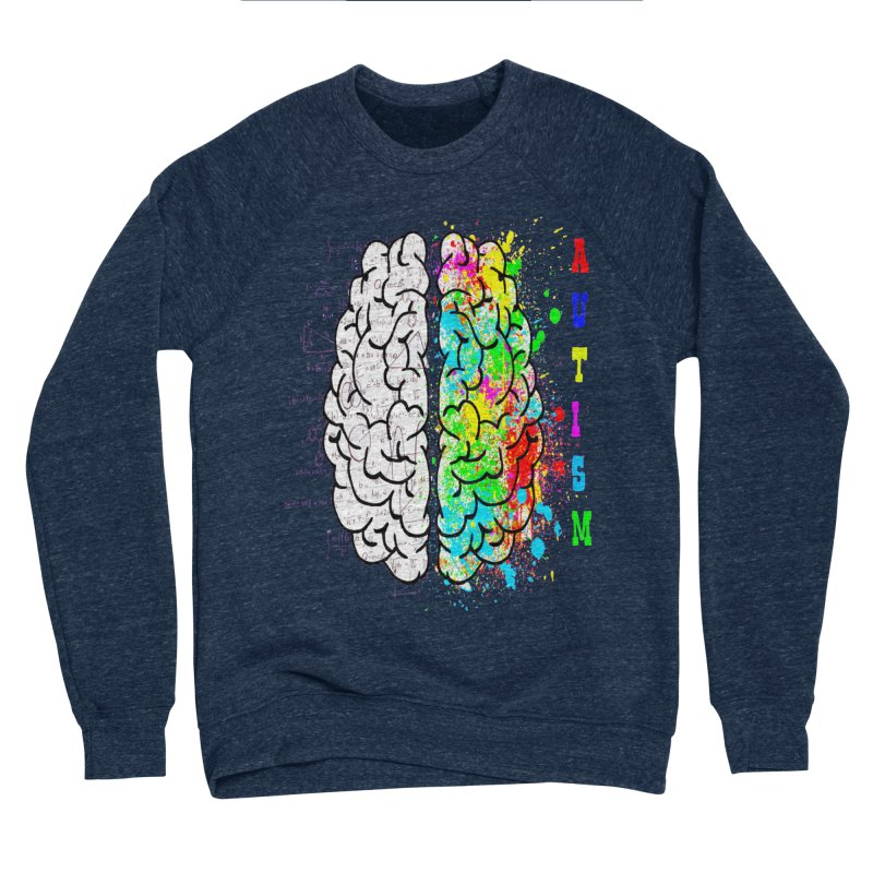 Autism Brain Women's Sponge Fleece Sweatshirt by Divinitium's Clothing and Apparel