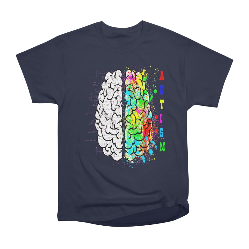Autism Brain Men's Heavyweight T-Shirt by Divinitium's Clothing and Apparel
