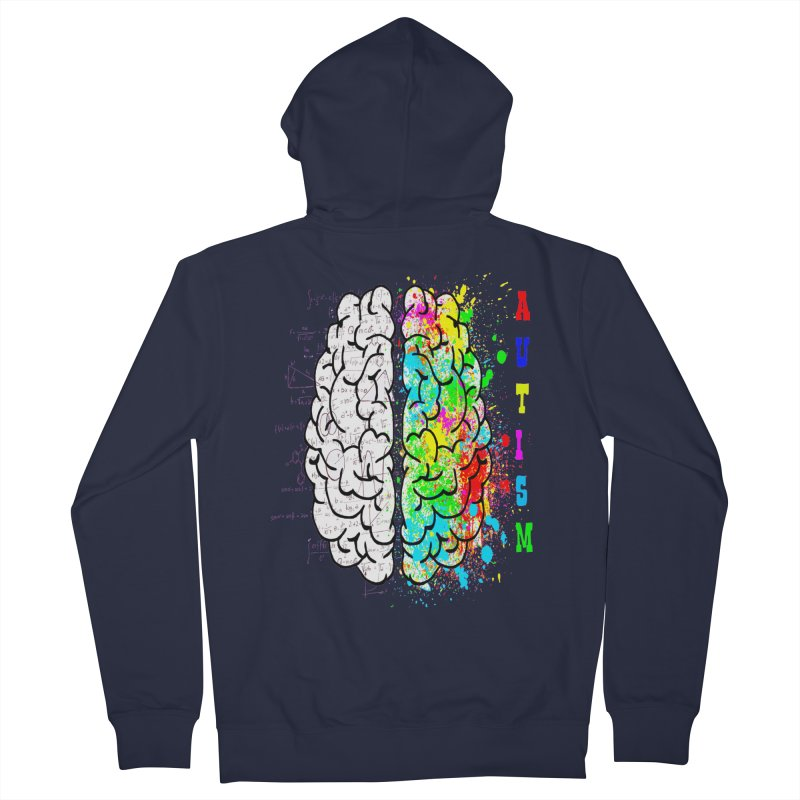 Autism Brain Women's French Terry Zip-Up Hoody by Divinitium's Clothing and Apparel