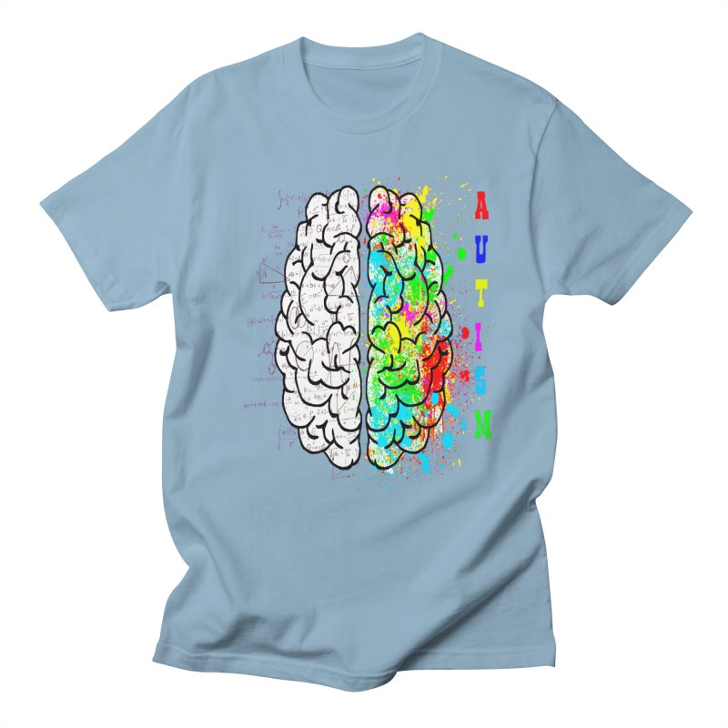 Autism Brain Men's Regular T-Shirt by Divinitium's Clothing and Apparel