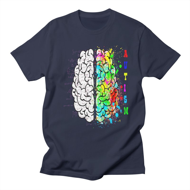 Autism Brain Men's Regular T-Shirt by Divinitium's Clothing and Apparel