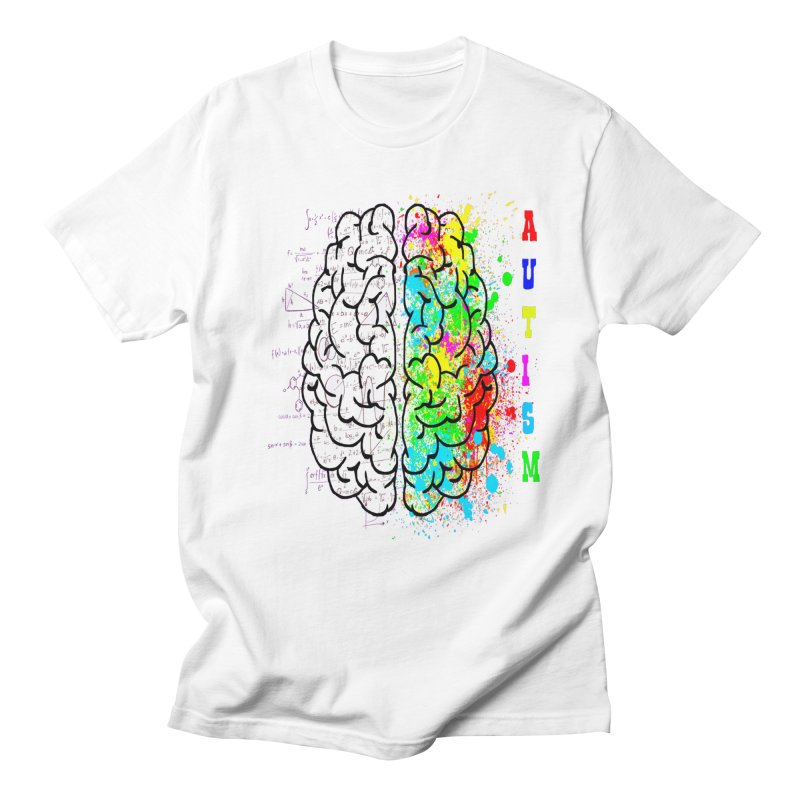 Autism Brain Men's T-Shirt by Divinitium's Clothing and Apparel