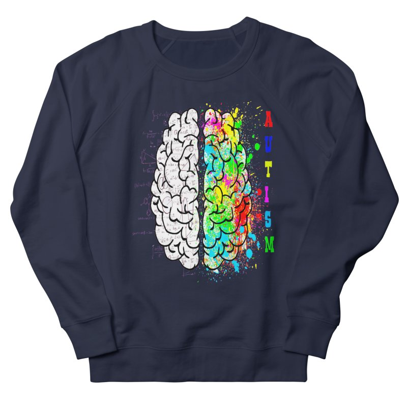Autism Brain Women's French Terry Sweatshirt by Divinitium's Clothing and Apparel